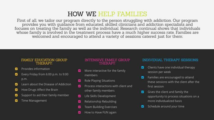 How we help families