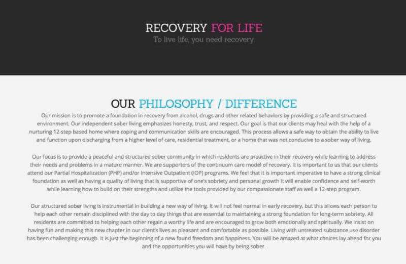 Recovery for life - To live life, you need recovery